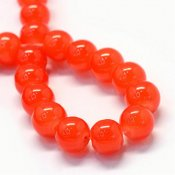 Imiterad jade - 8 mm, orange