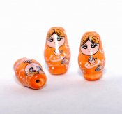 Babushka, orange, 2 st