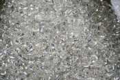 Seed Beads - 2 mm, silver, silver lined