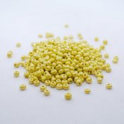 Seed Beads - 4 mm, glansigt gula