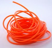 Gummirem, orange, 3 mm (5 m)