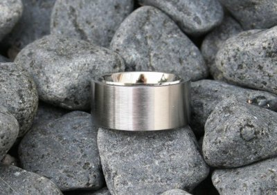 Rostfritt stål - slät fingerring, 10 mm