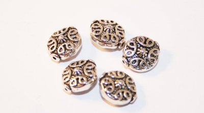 Mellandelar antik coin-10 st 10mm
