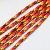 Paracord - orange/röd/gul