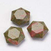Hexagon hänge unakite