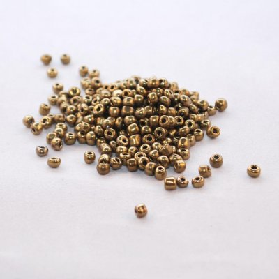 Seed Beads - 4 mm, brun/brons